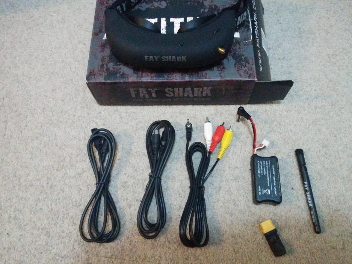 Fatshark Attitude V1, Predator V2 RTF headset system, ImmersionRC