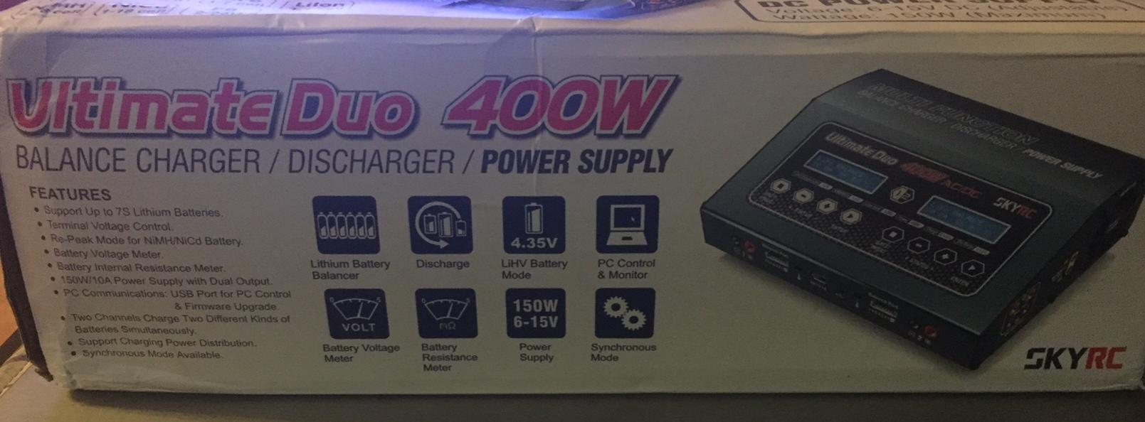 SKYRC Ultimate Duo 400W AC//DC Charger with Power Distribution