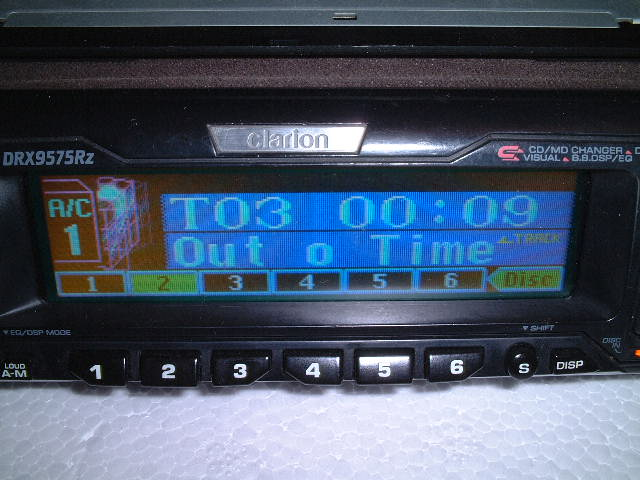 Clarion Car Stereo: Clarion Car Stereo + Mini Disk Stacker