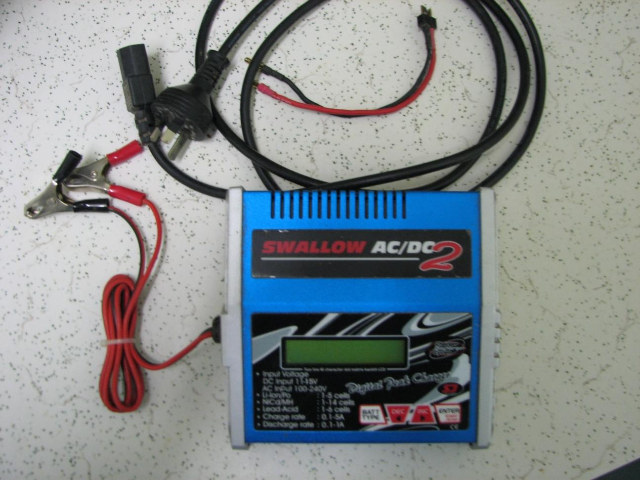 swallow battery charger instructions