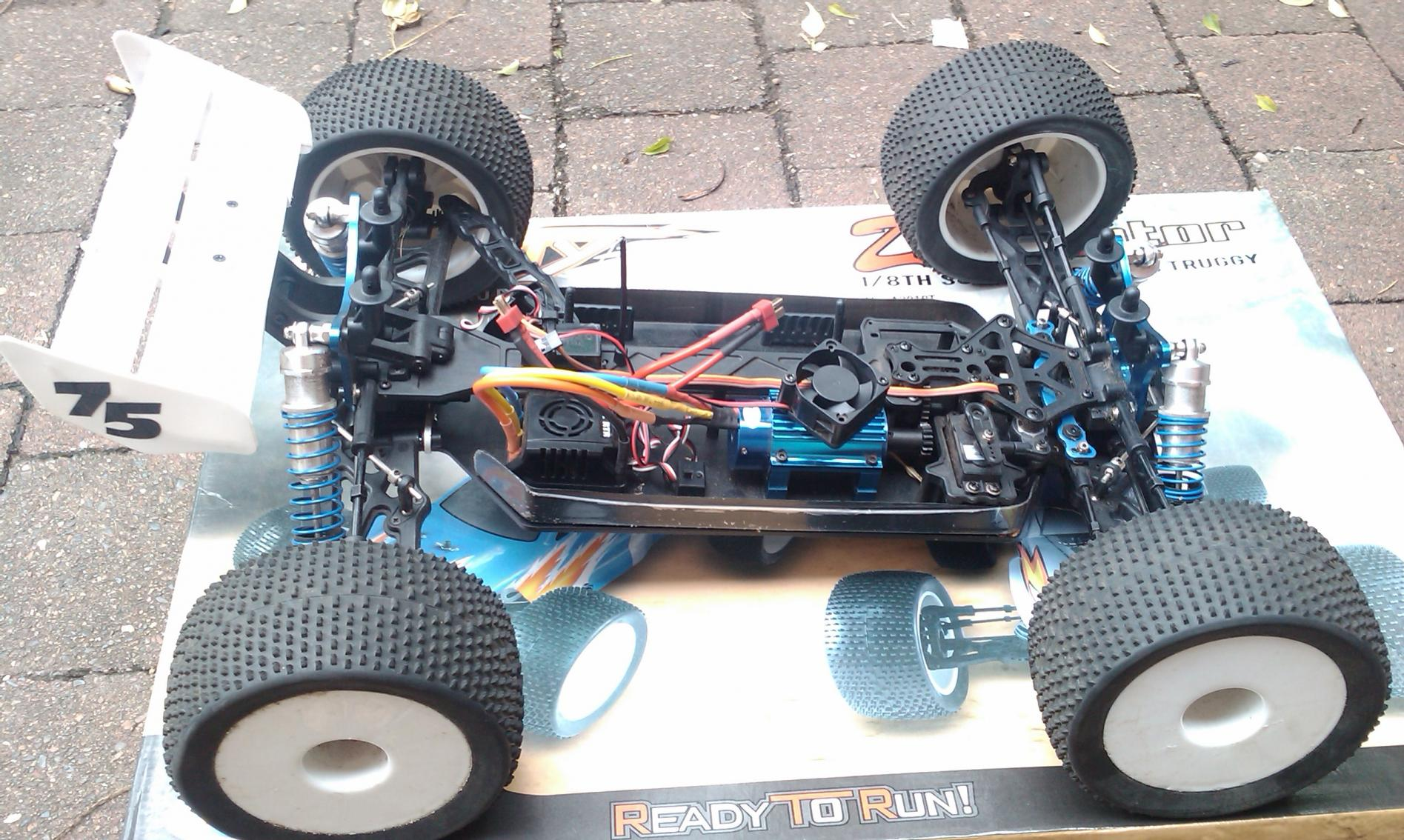 1 8 scale brushless truggy dominator r c tech forums. Black Bedroom Furniture Sets. Home Design Ideas