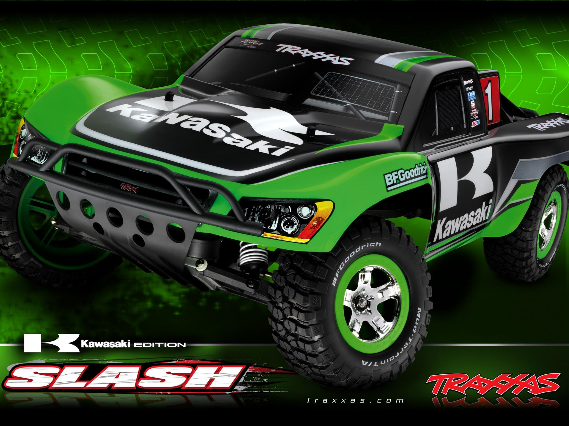 BNIB LIMITED EDITION KAWASAKI TRAXXAS SLASH 2WD BRUSHED CARS slash