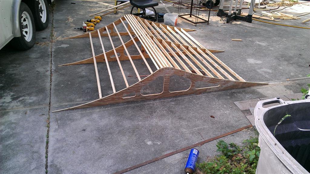 Building wood jumps for carpet track. Photos - R/C Tech Forums