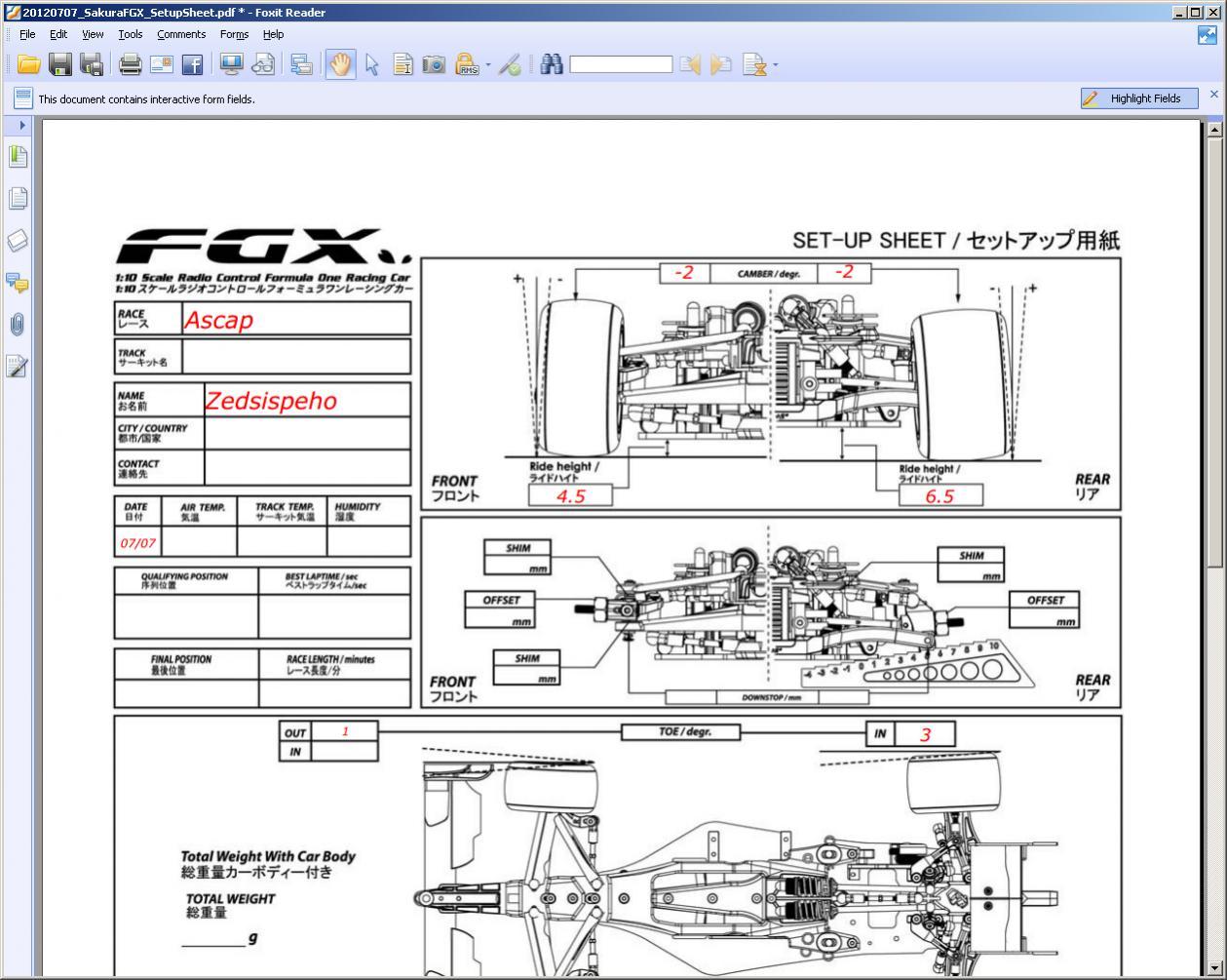 Images of Blank Race Car Setup Sheets - #rock-cafe