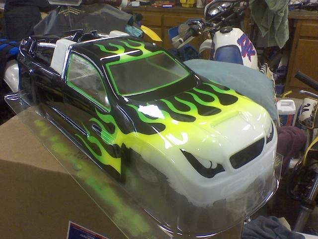 RC car body painting