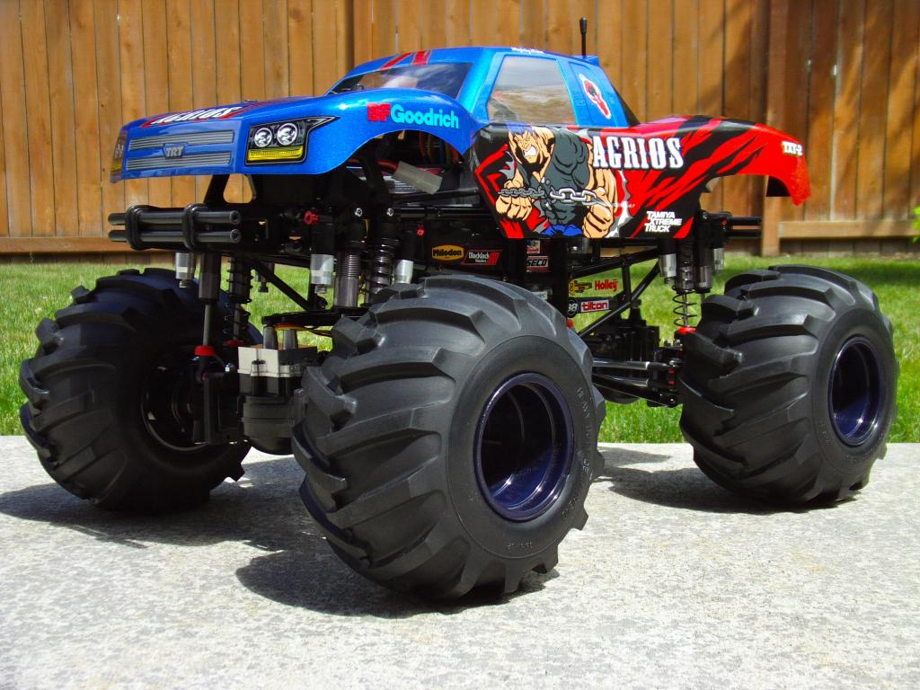 home build : solid axles monster truck using 1/8 ...