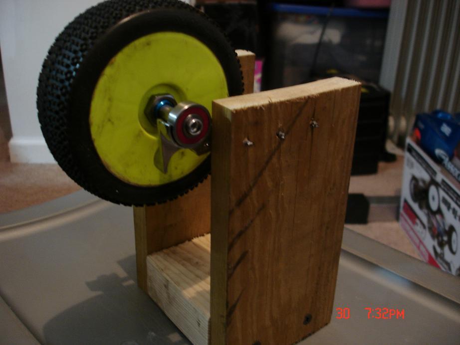 My Homemade tire balancer....check it
