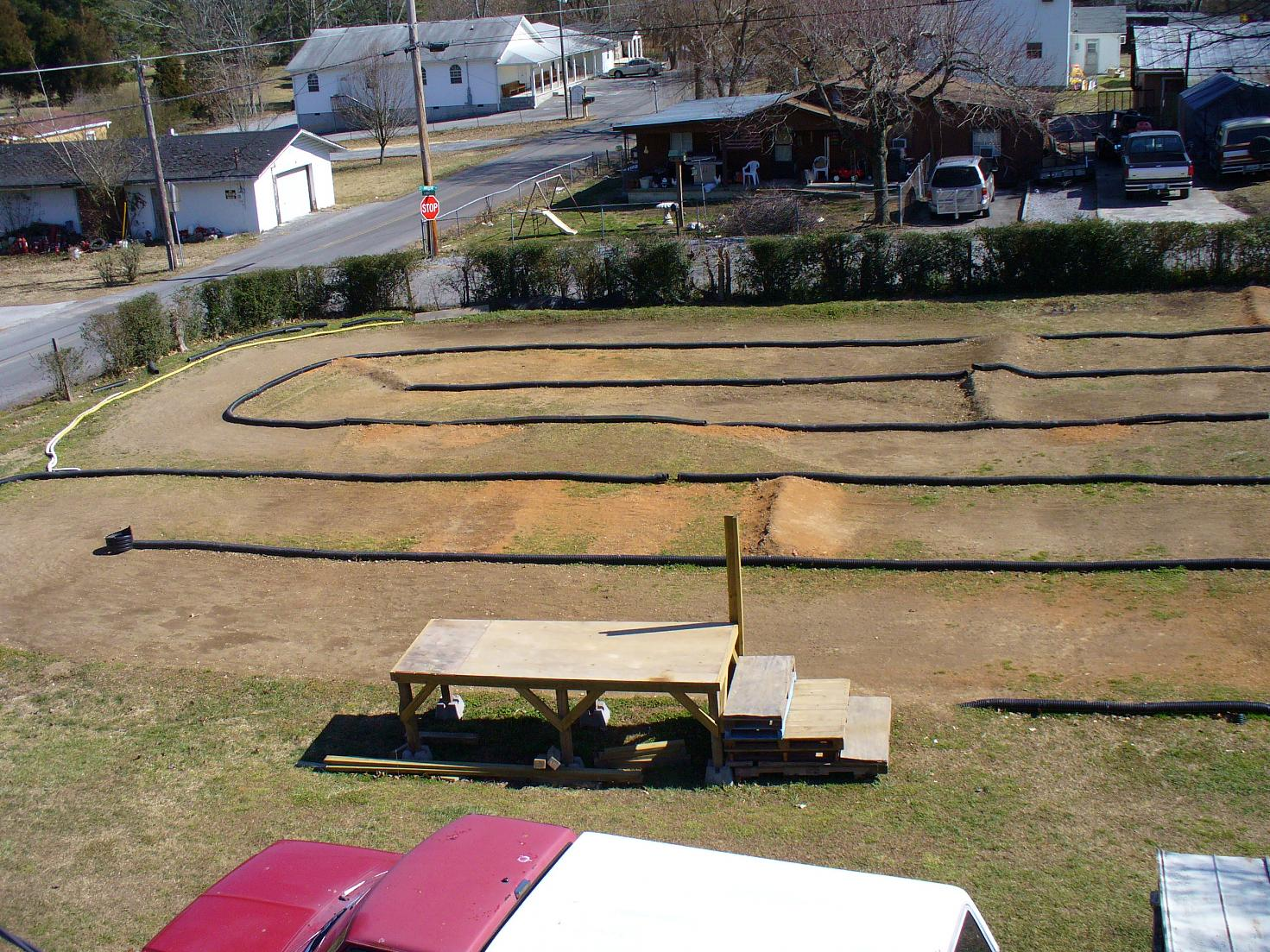 the start of my backyard rc track page 2 r c tech forums