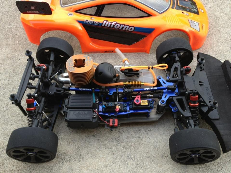 CNC Lightened Chassis for Kyosho MP7.5 Inferno GT Inferno NEO Inferno VE RTR NEW