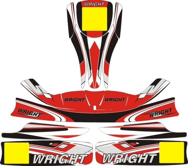 Go Kart Sticker-kit Template