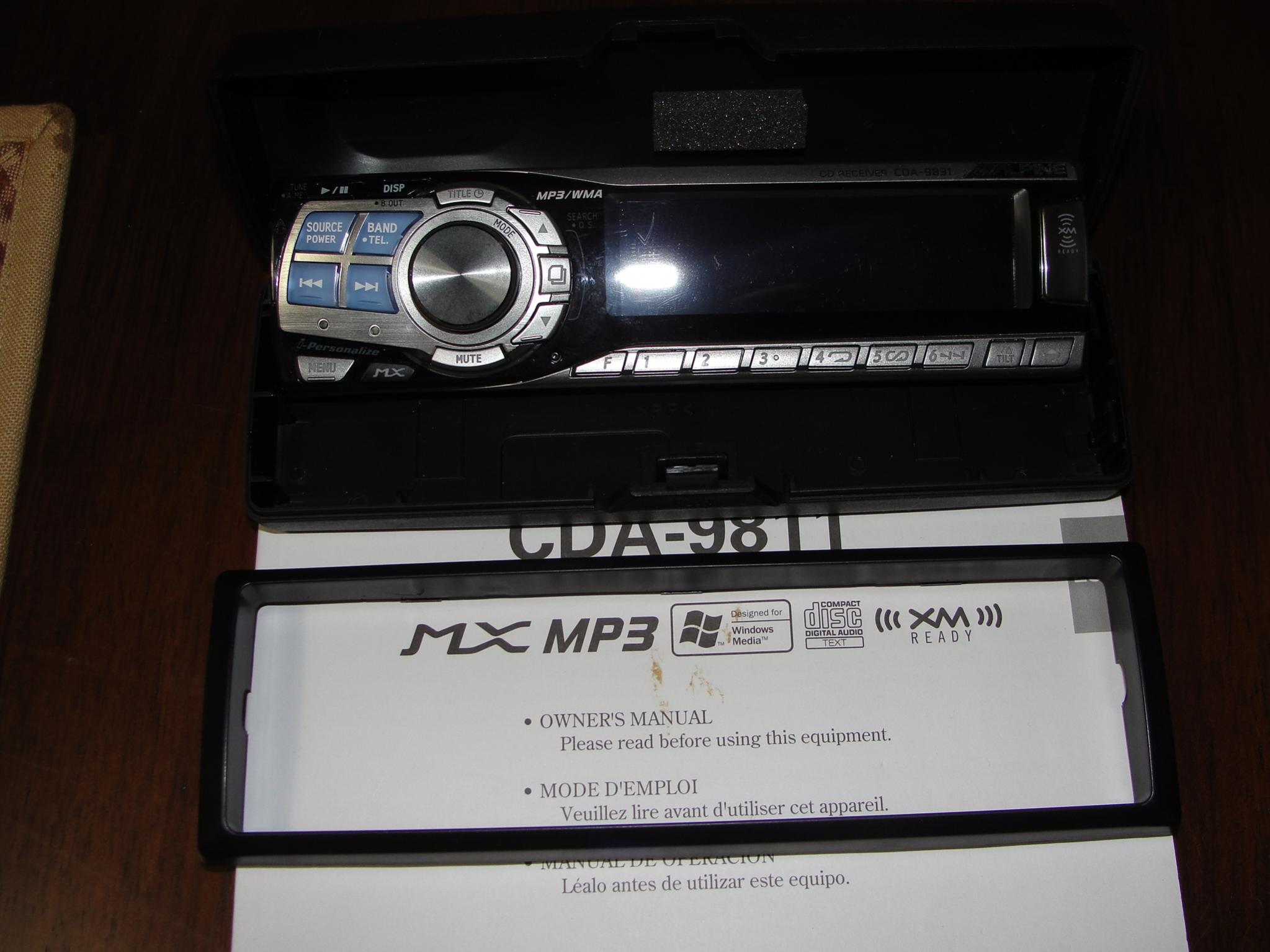 alpine cda 9831 face plate r c tech forums rh rctech net alpine cda 9831r manual alpine cda 9831r manual
