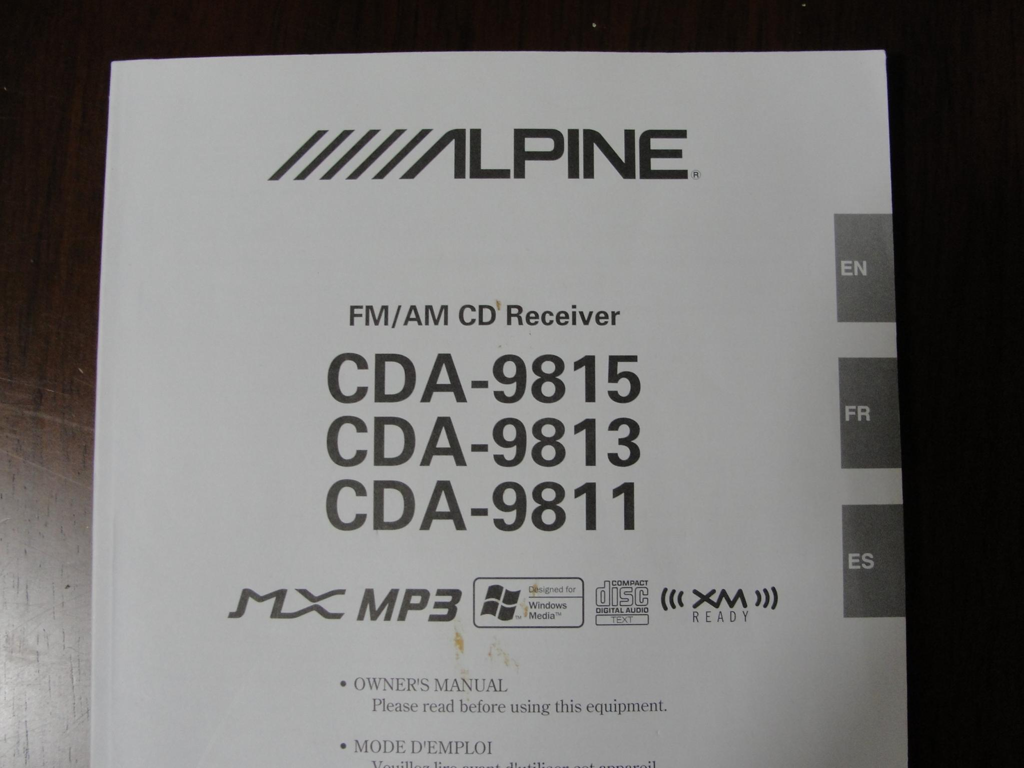 Alpine Cda 9831 Face Plate R C Tech Forums 9815 Wiring Harness Radio 4