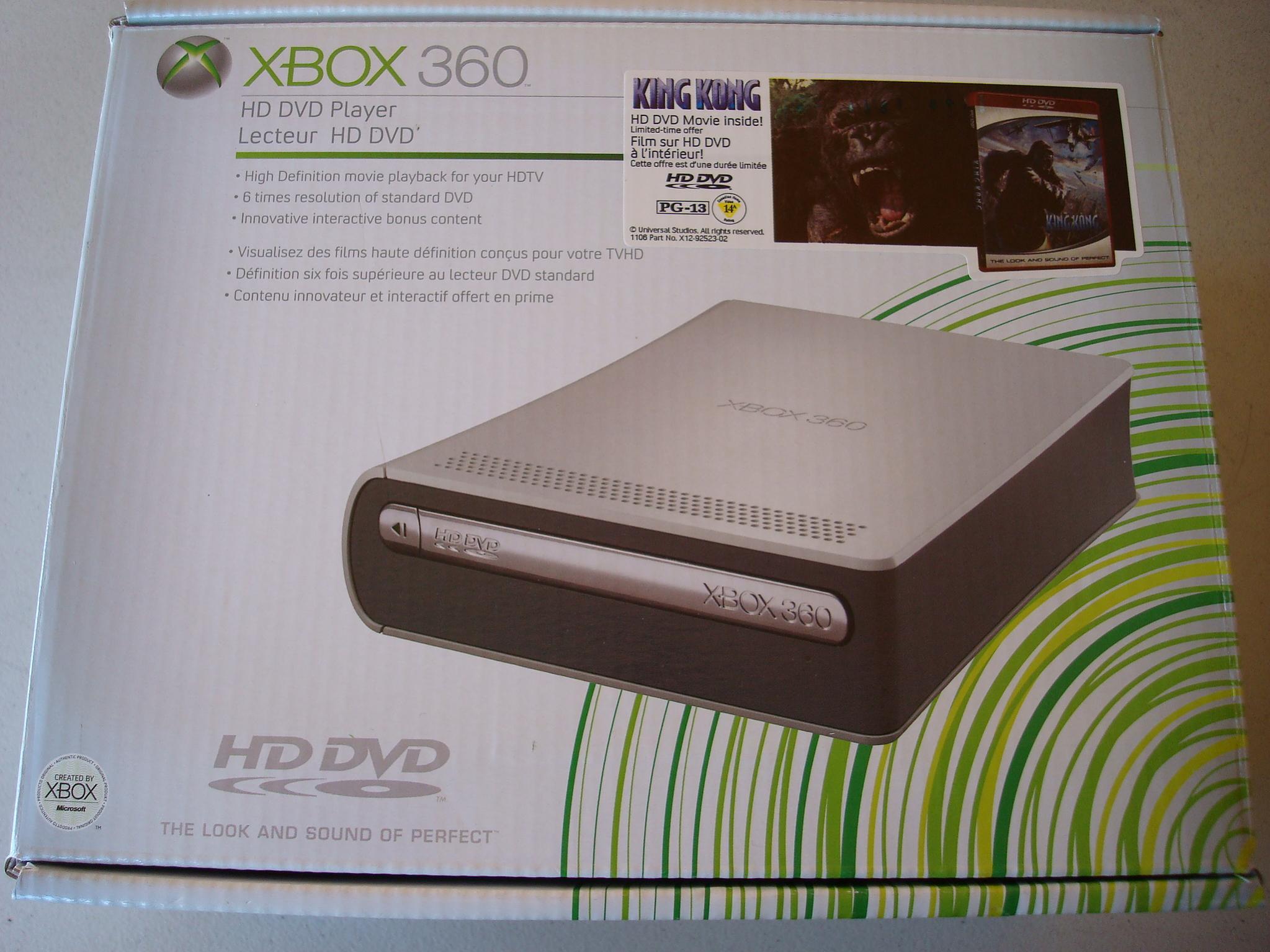 XBOX 360 HD dvd player w/ remote & movie - R/C Tech Forums