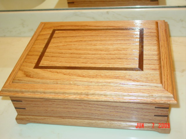 Oak jewelry box plans