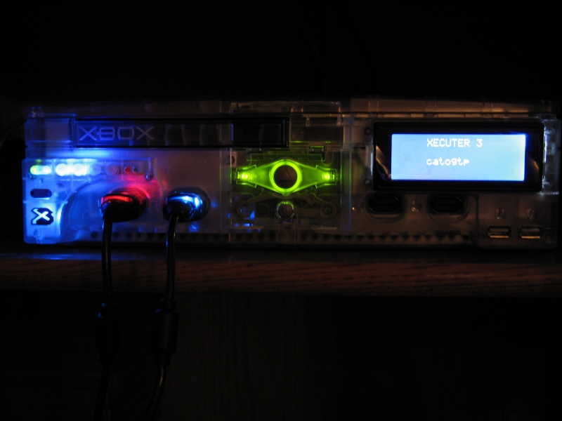 Limited Edition Crystal XBOX with X3 modchip and X3CP front