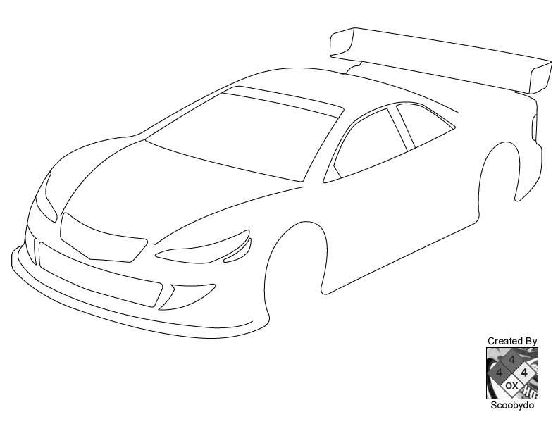 Blank templates for designing on paper r c tech forums for Blank race car templates
