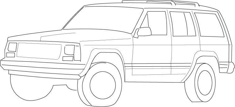 jeep grand cherokee coloring sheets coloring pages