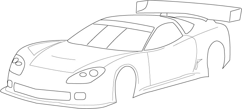 Blank templates for designing on paper page 56 r c for Blank race car templates
