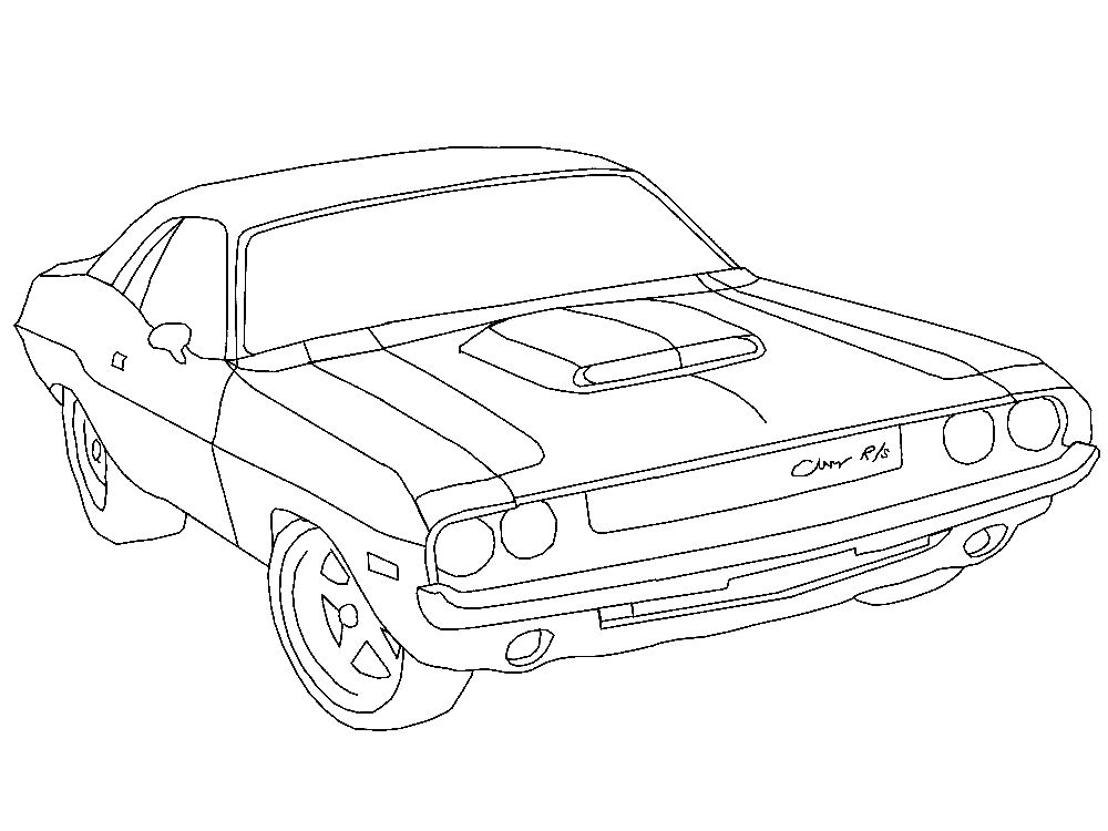 Challenger Car Coloring Pages : Free coloring pages of dodge challenger