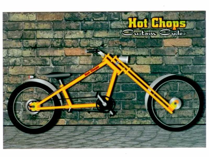 Chopper Bikes Drawings Drawings-chopper-pushbike