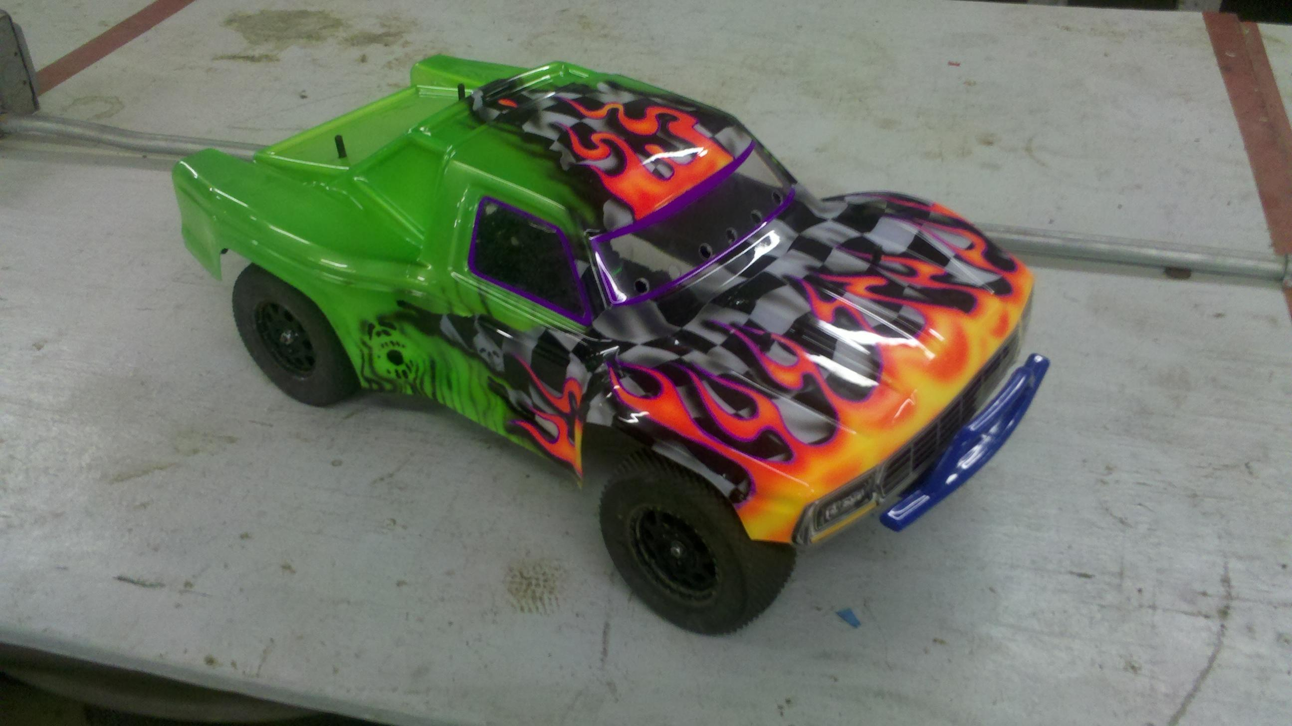 Custom Rc Shell Painting