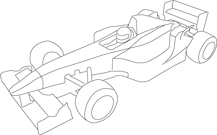 Race Car Drawing Templates Race Car Template Outline