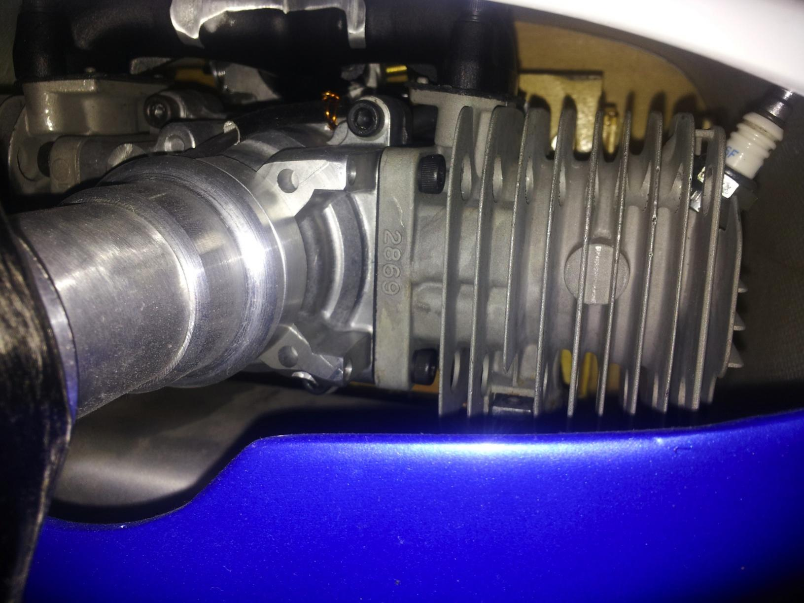 ZENOAH GT80 TWIN WITH FRANK BOWMAN RINGS AND E IGNITION - R