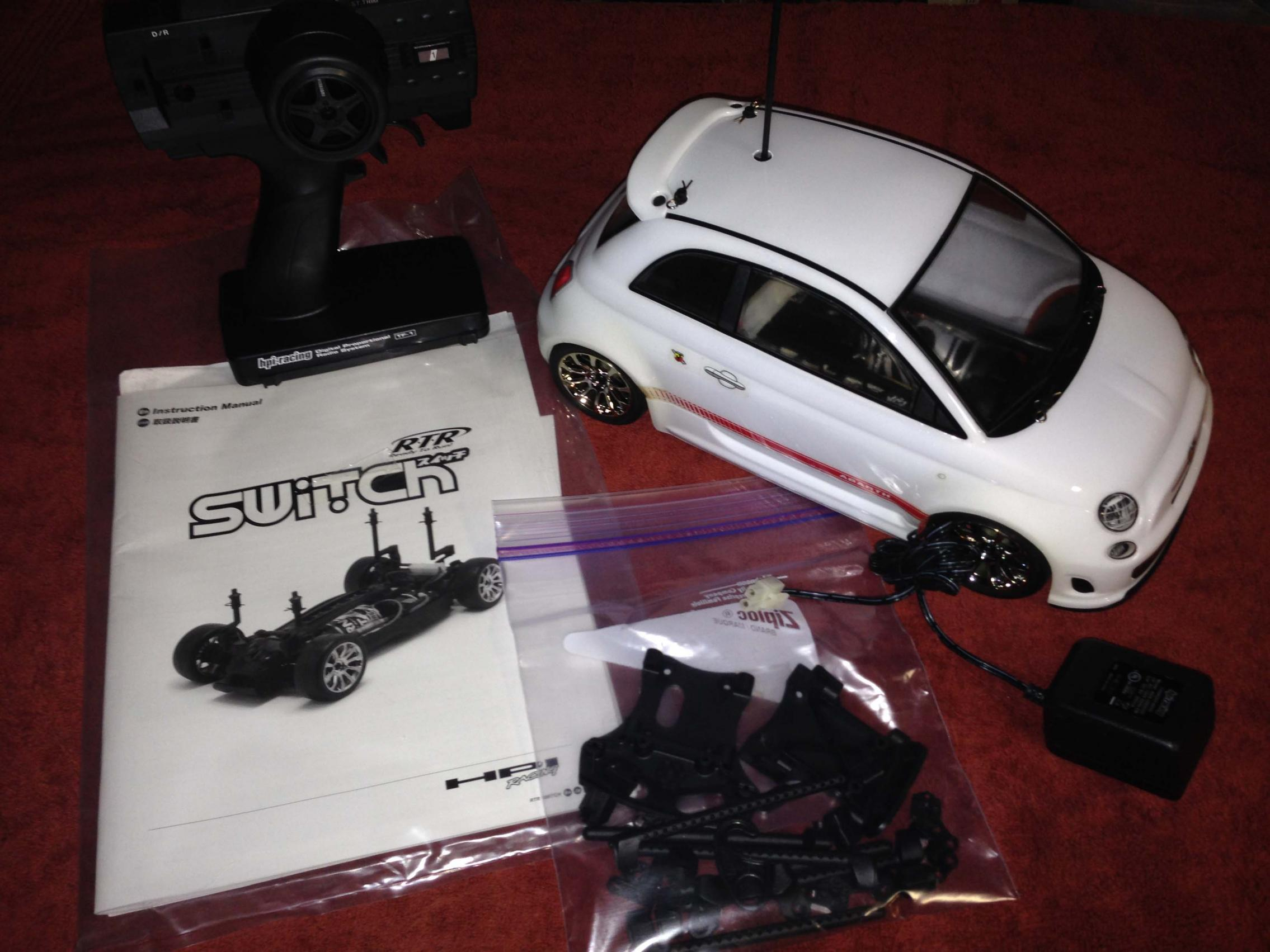 D Hpi Switch Fiat Abarth Rtr Car on Starter Location Fiat 500