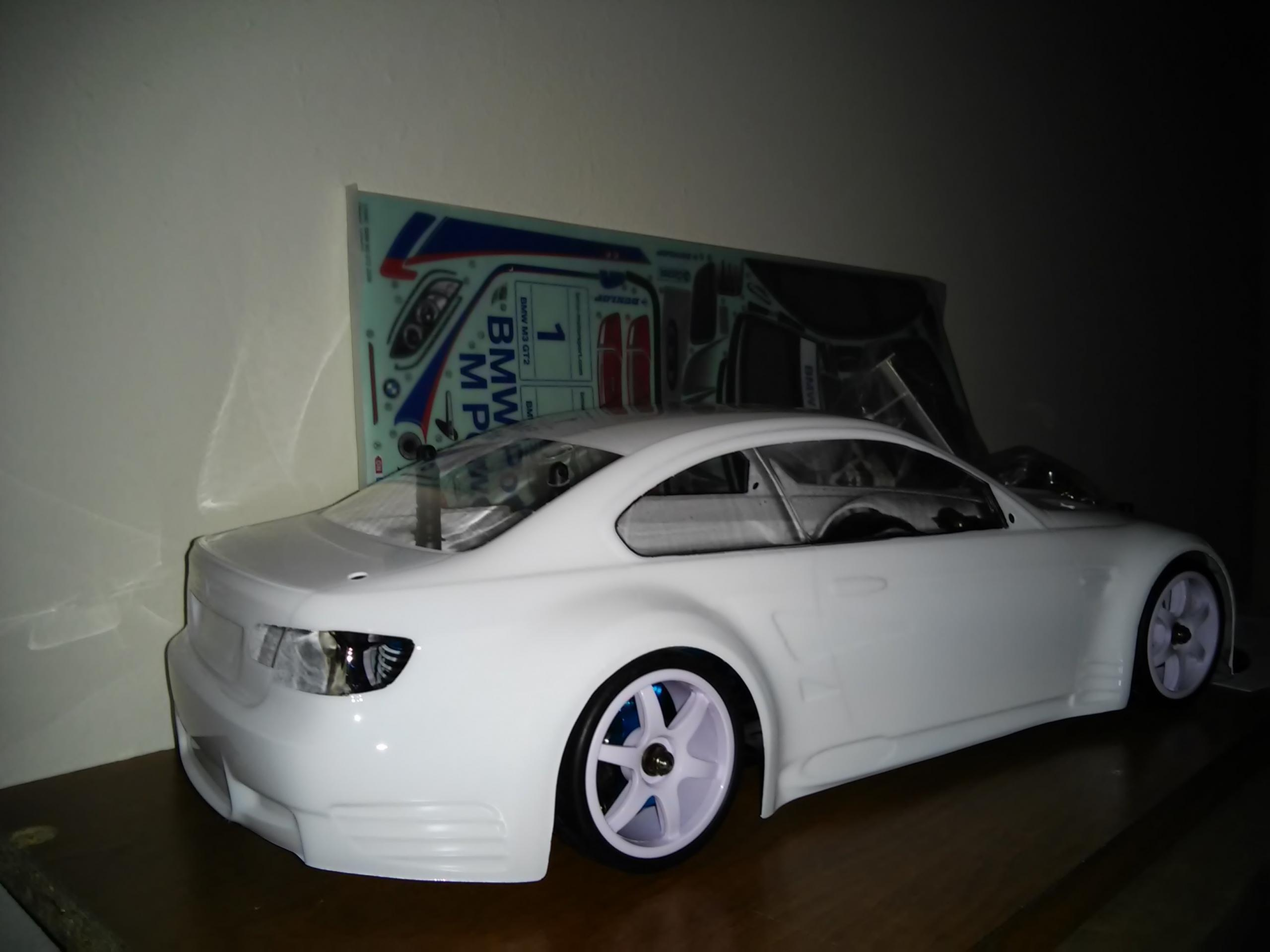 tamiya bmw m3 gt2 2009 body new painted r c tech forums. Black Bedroom Furniture Sets. Home Design Ideas