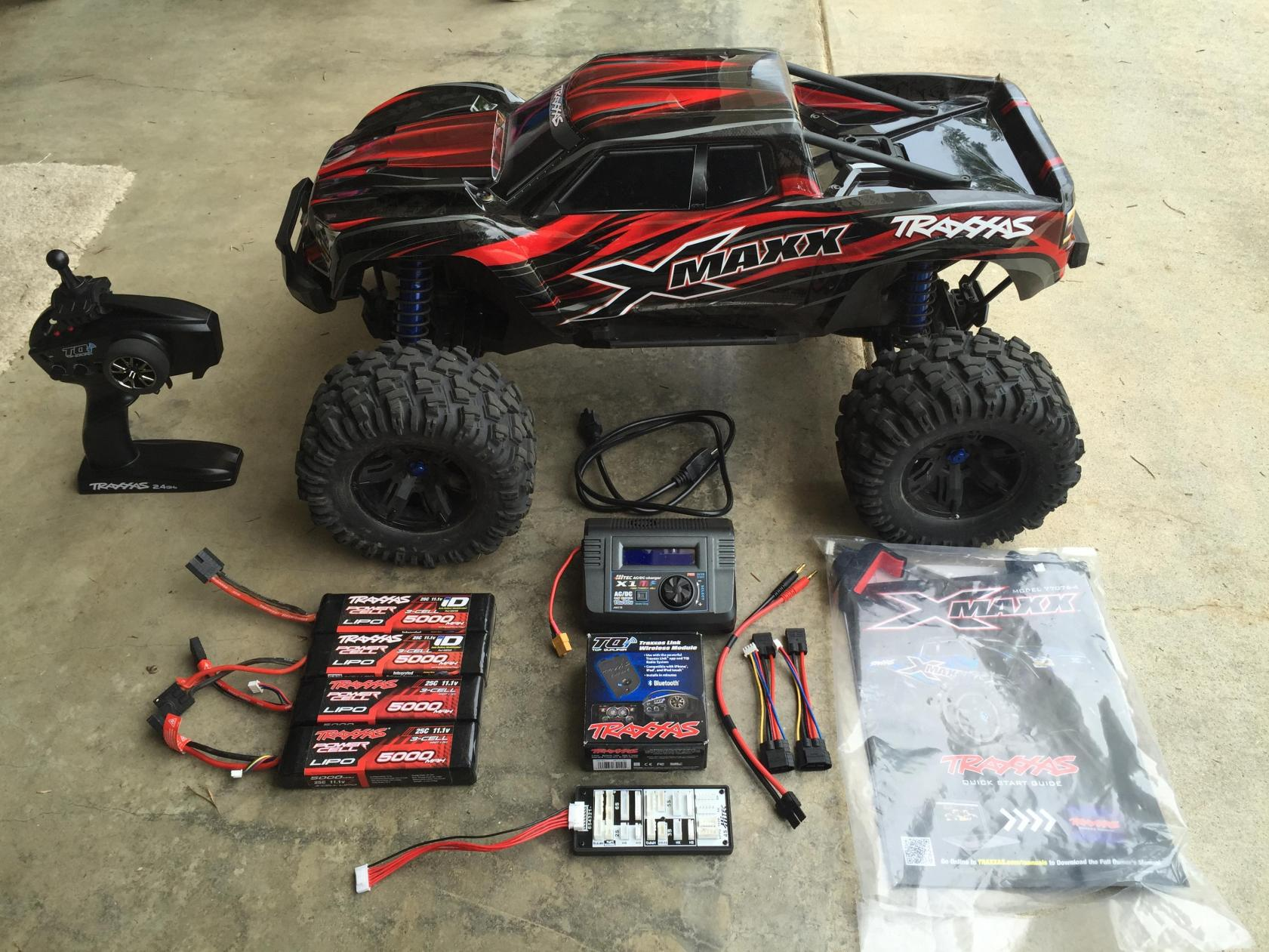 traxxas x maxx in great condition 4 traxxas 3s lipos hitec x1 mf charger fs ft r c tech forums. Black Bedroom Furniture Sets. Home Design Ideas