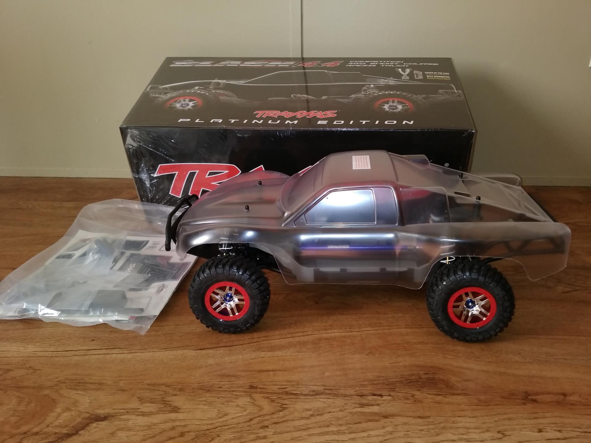 New Traxxas Slash 4x4 Platinum Roller 1 10 TRA6804R LCG Chassis img
