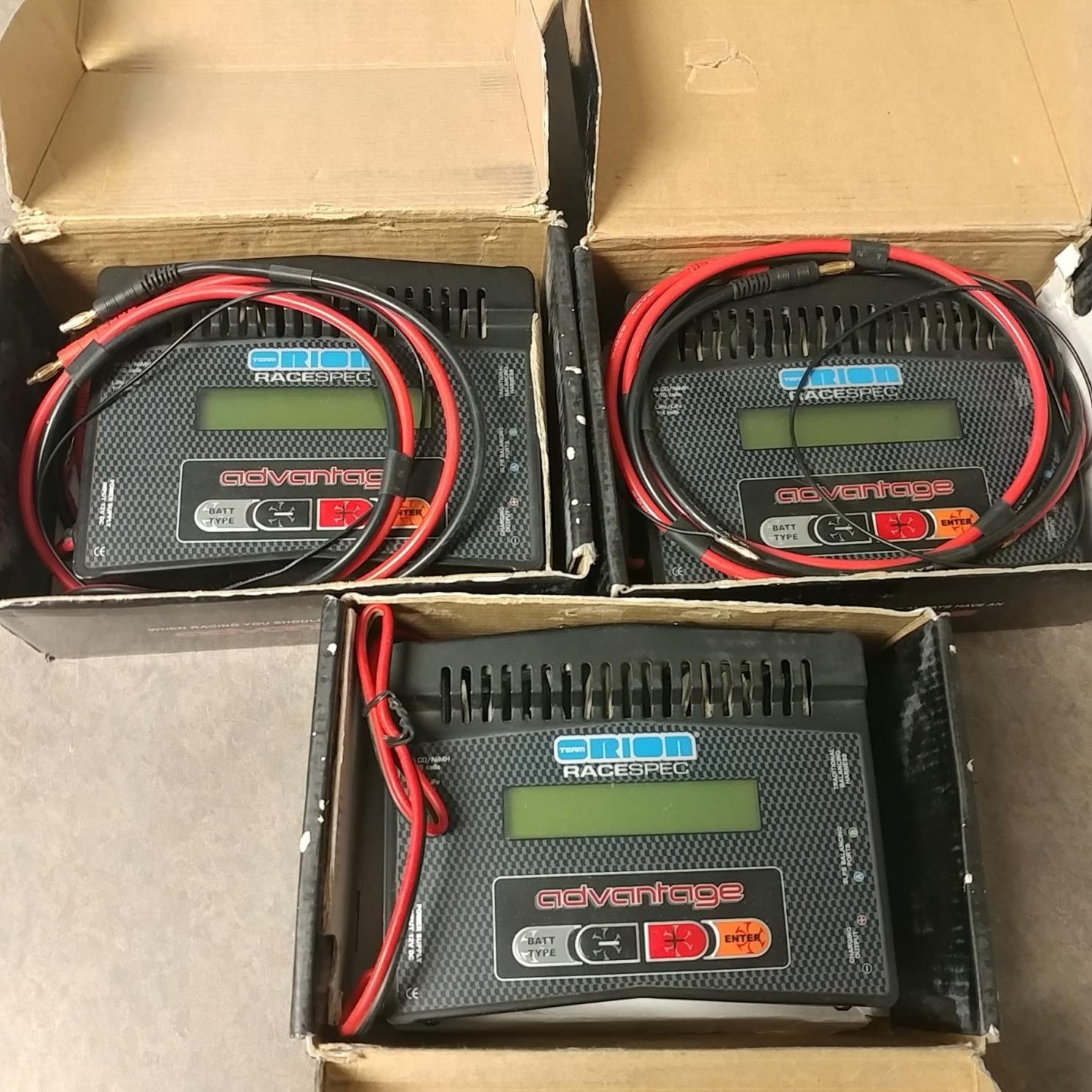orion race spec advantage chargers, 25 amp power supply ...
