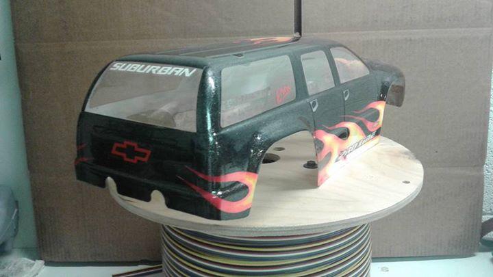 Custom airbrushed Pro-Line racing Chevy Suburban body - R/C