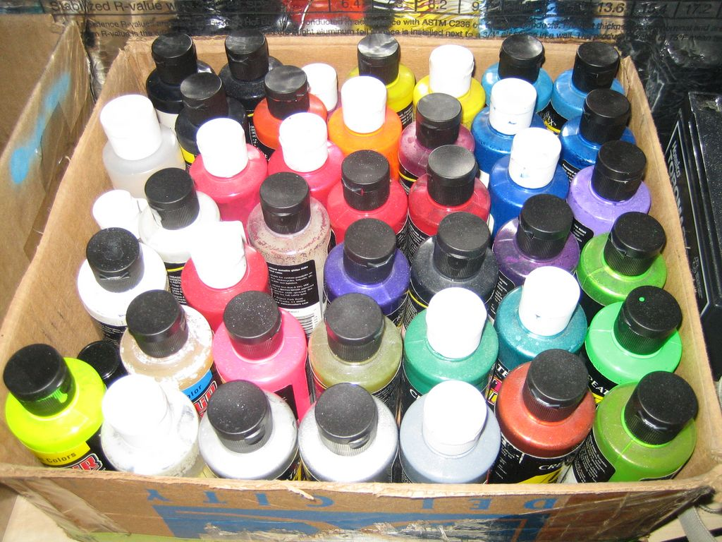 Createx Auto Air Acrylic Paints (LOTS OF IT!)