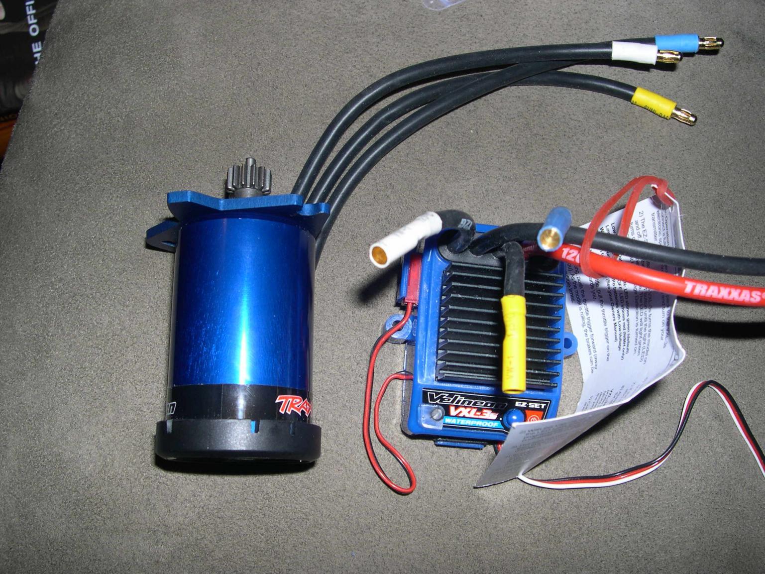 Brushless Vxl 3s Ecs And Motor And Novak 10t Bl Motor R