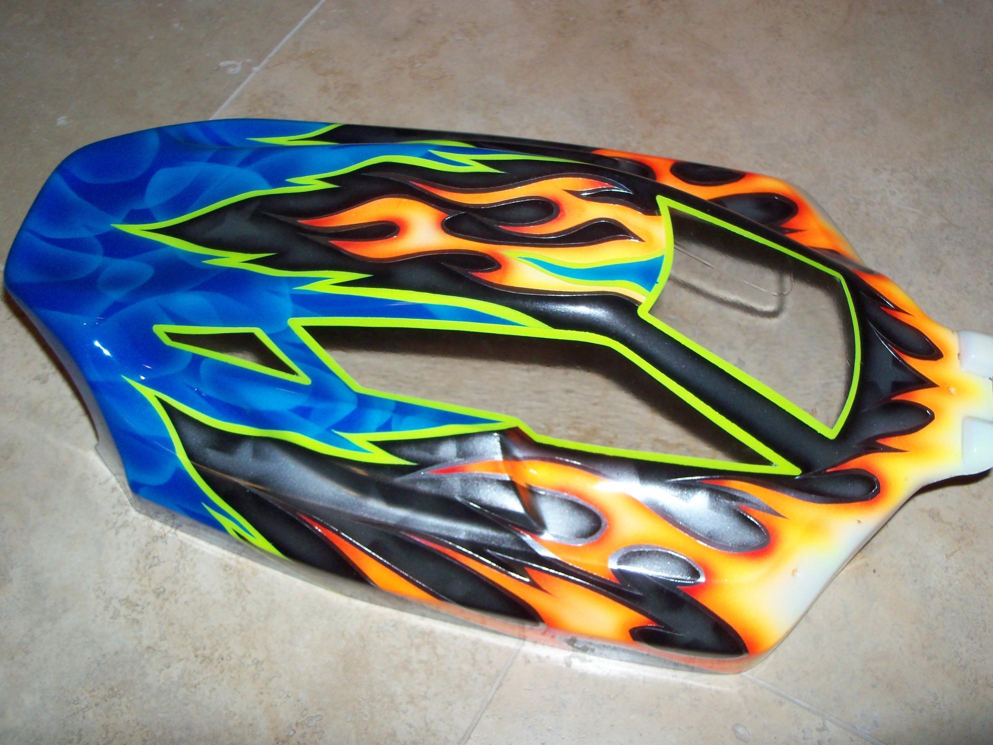 Losi 2 0b Custom Painted Jc Illusion Body Electric Nitro