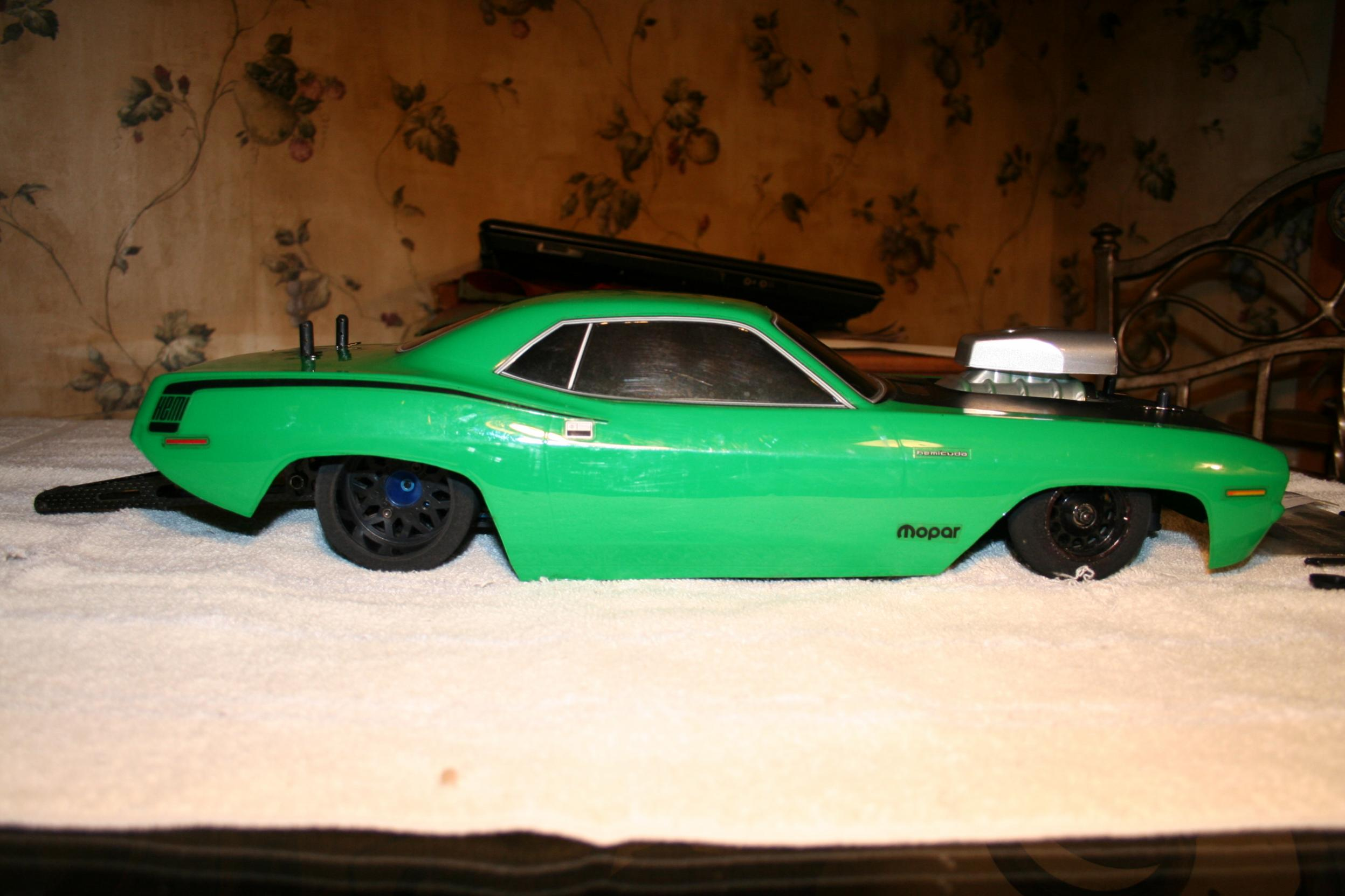 brushless grandmotorsports pro stock hemi cuda see pics r c tech forums. Black Bedroom Furniture Sets. Home Design Ideas