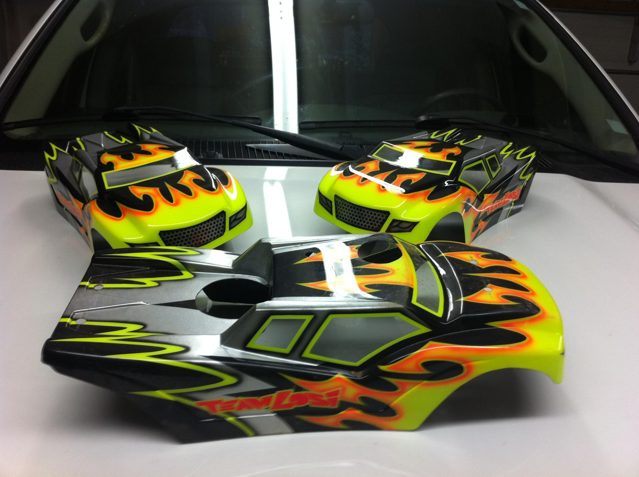 Ken shiver body painted by larry genova rc racing for Custom paint and body