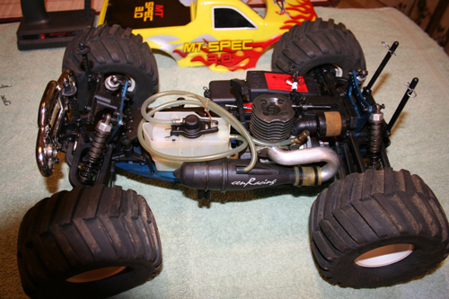 D Cen Racing Nitro Mt Spec Monster Truck Still Like New See Pic B Cen Mt
