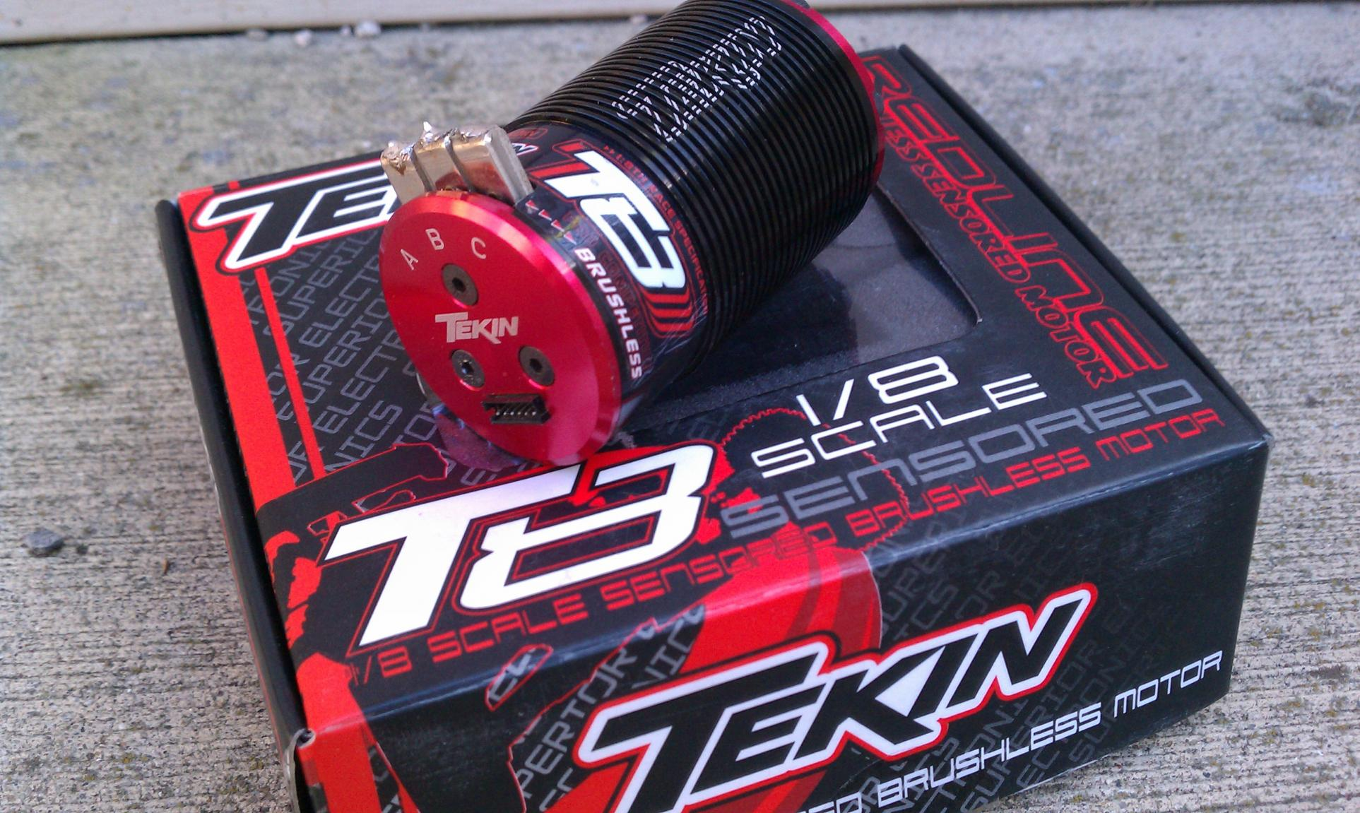 tekin t8 2050 kv 1 8 scale brushless motor and new unused. Black Bedroom Furniture Sets. Home Design Ideas