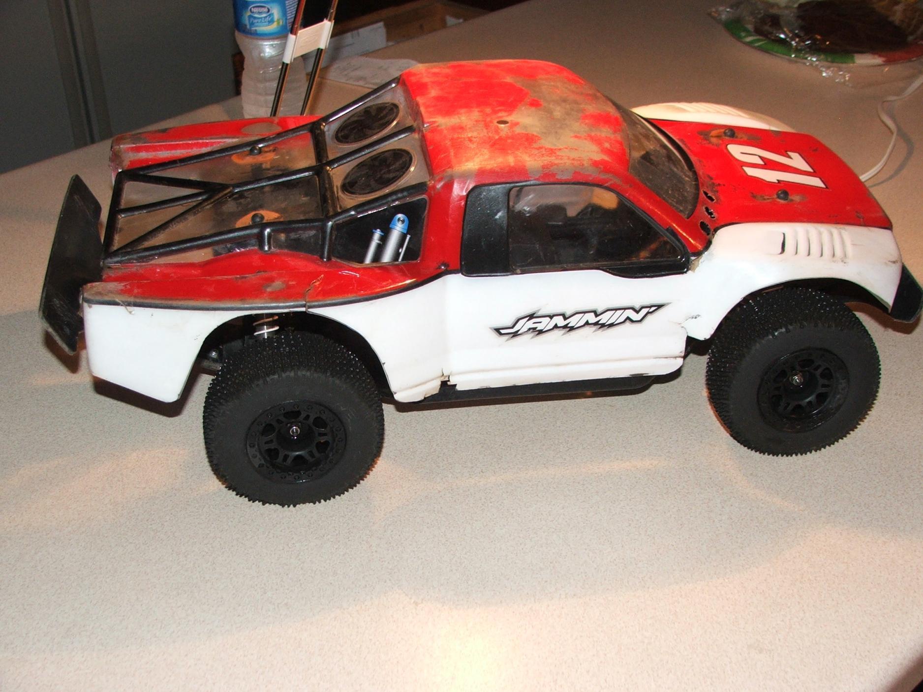 SCRT10 Parts Alum. Shock Body Rear #TMS-14B (RC-WillPower ...