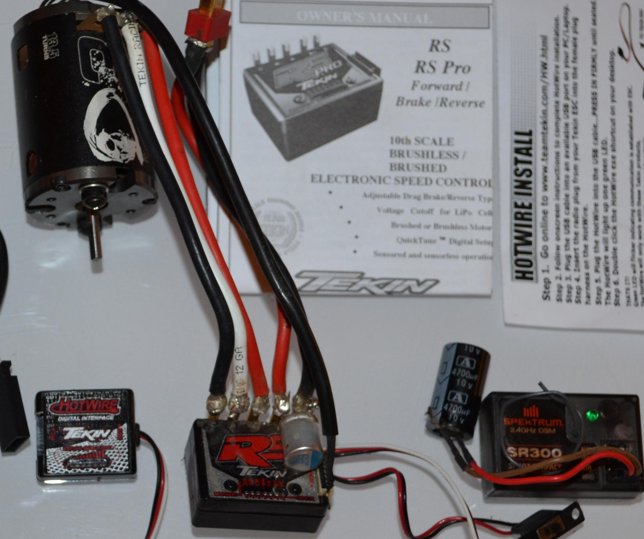 Tekin Rs And Hot Wire Trinity D3 135 Spektrum Sr300 Receiver R What Is Wiring Dsc 2475