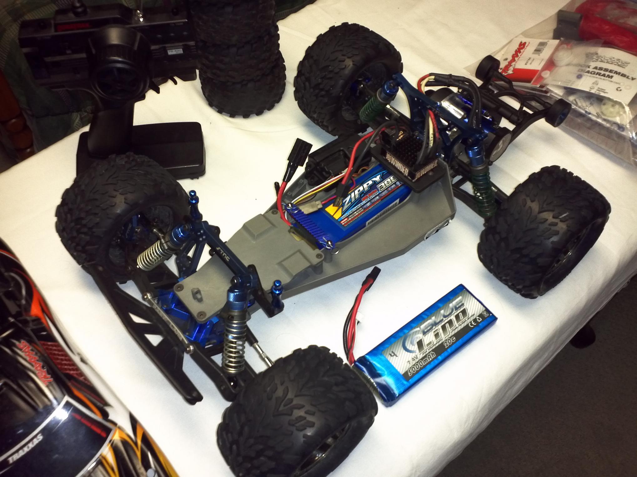 Traxxas Rustler VXL Heavily Upgraded FT FS img