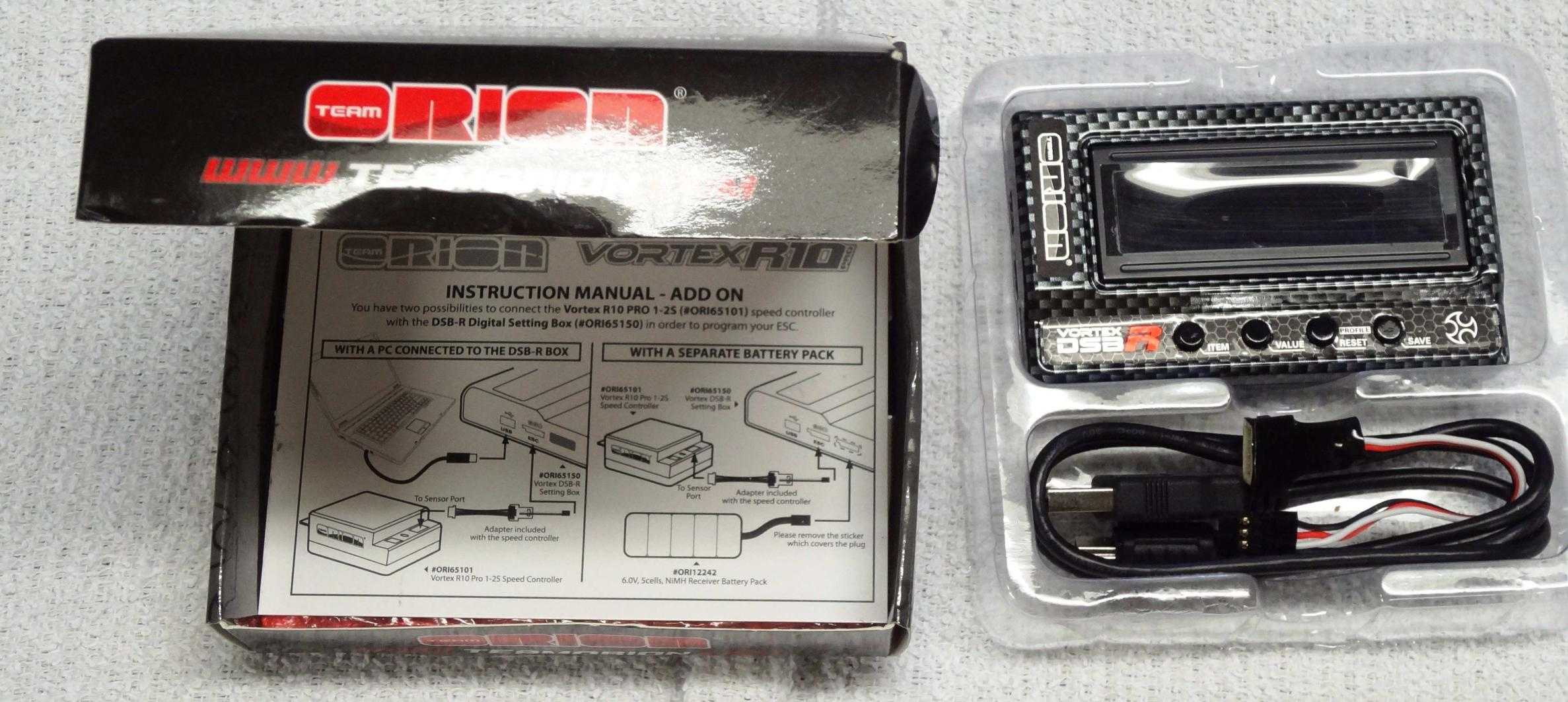 Team orion vortex r10. 1 competition brushless esc (170a, 2s.