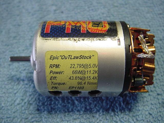 3 stock motors trinity sib binary r c tech forums for Epic motors san diego