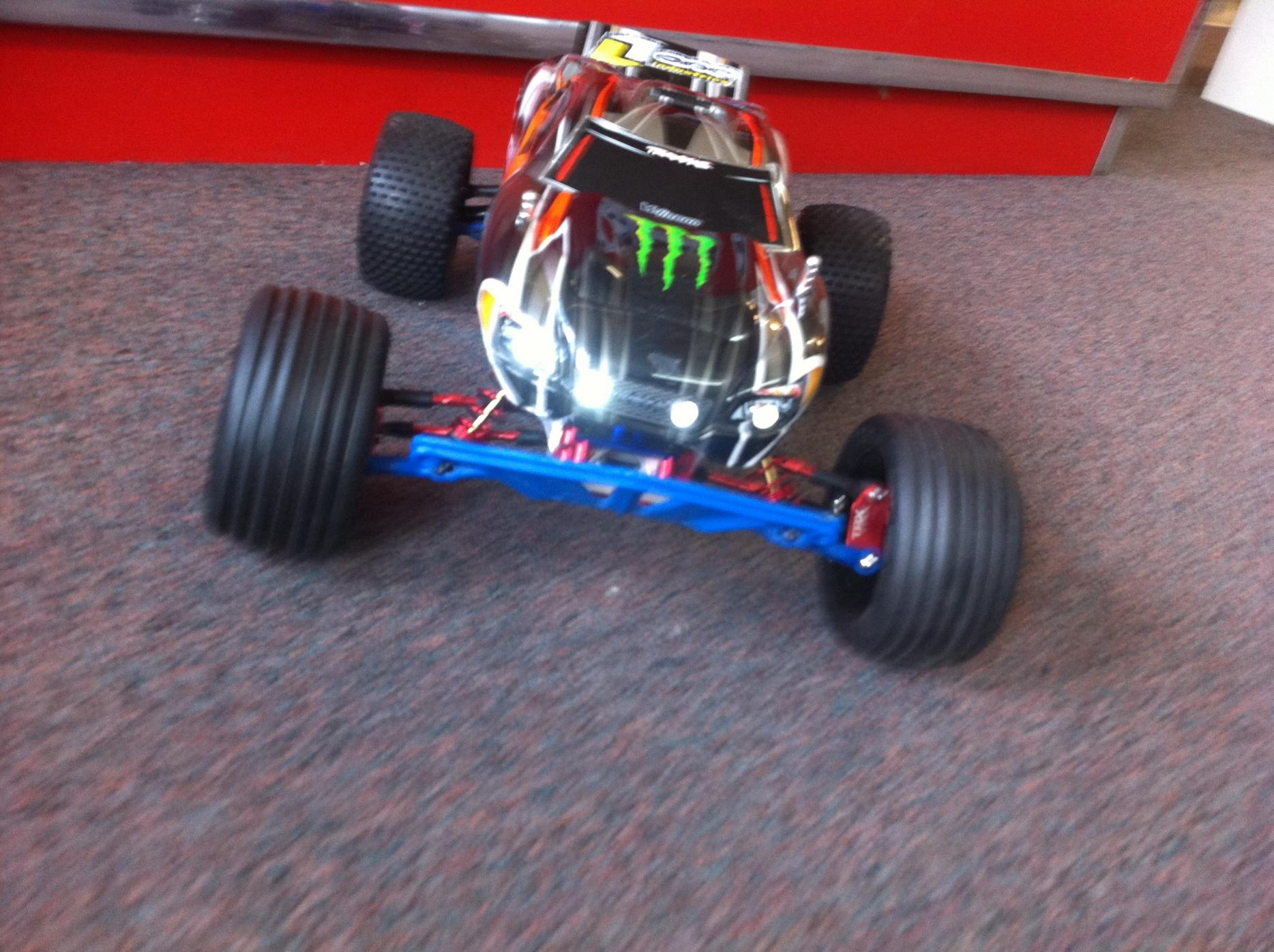 Traxxas Rustler VXL with lots of alum hopups like new image