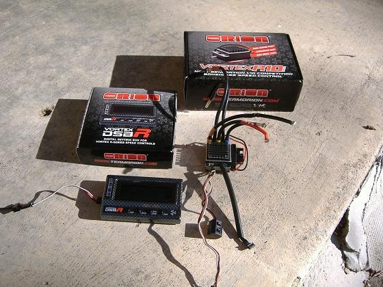 team orion vortex r10 pro race esc and dsb box  c tech