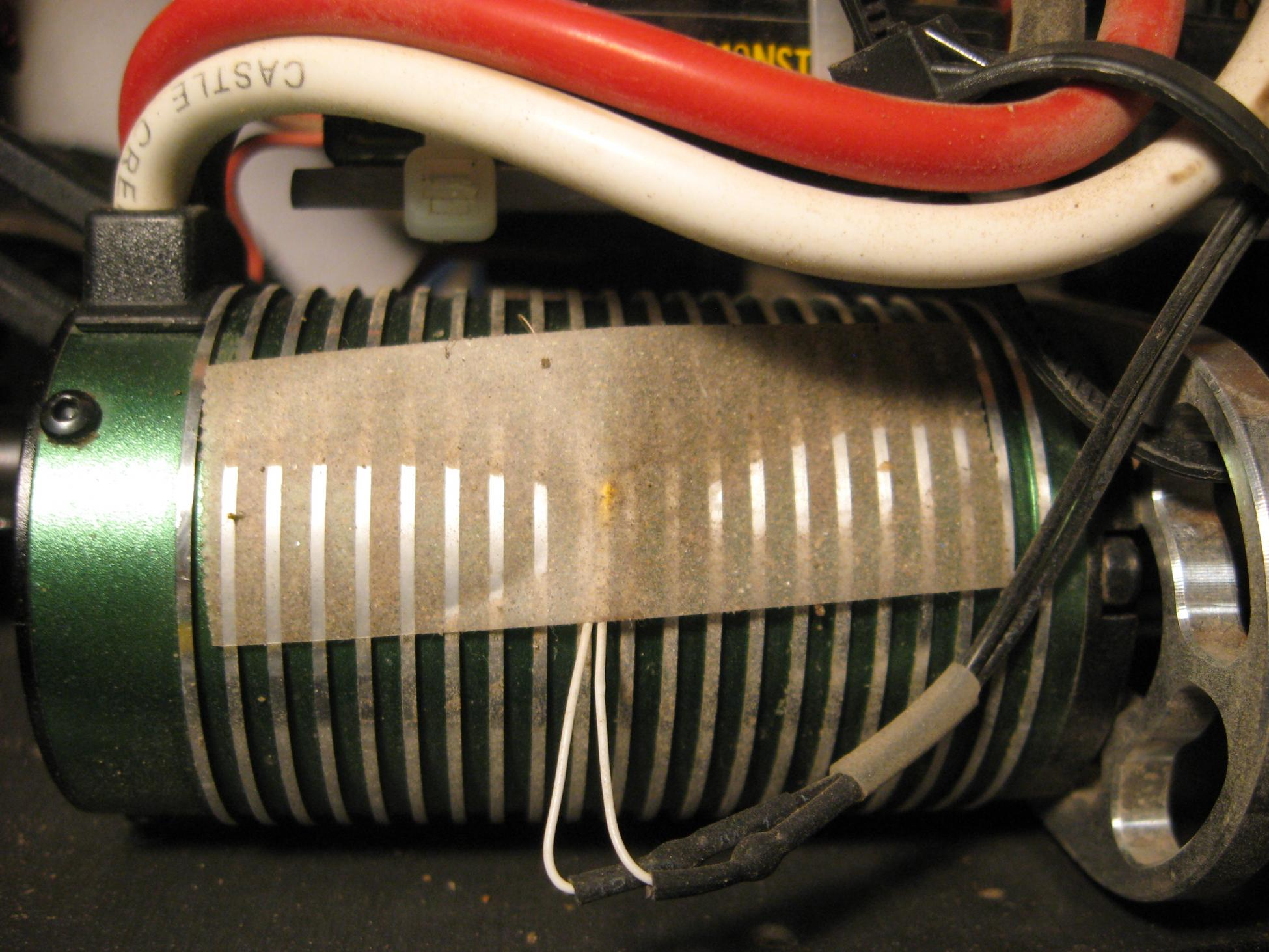 mounting a dx3s electric motor temp sensor r c tech forums