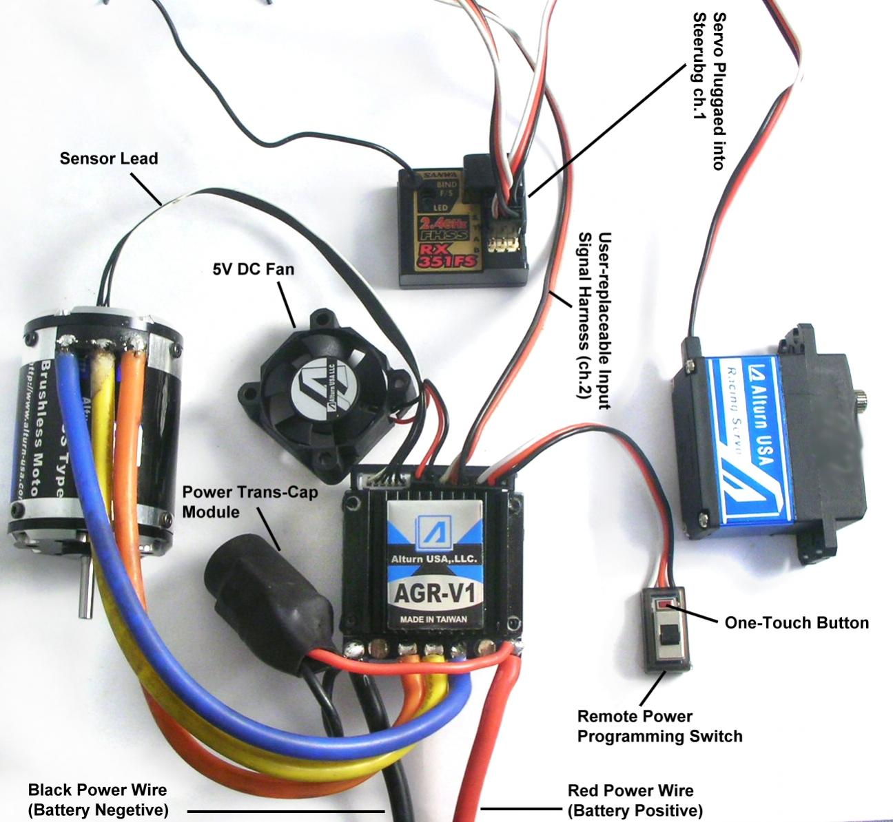 brushless esc wiring diagram rc brushless esc wiring