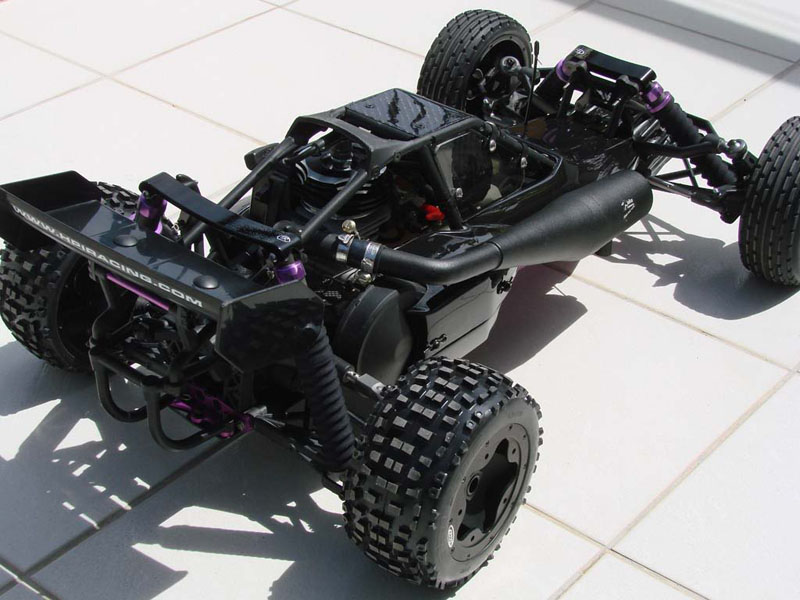 Rear view of the stealth Baja 5b